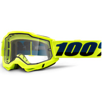 100% Accuri2 Enduro Moto Goggle Yellow w/Clear Lens