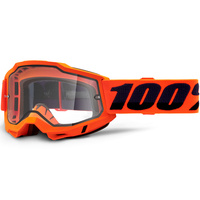 100% Accuri2 Enduro Moto Goggle Orange w/Clear Lens
