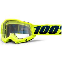 100% Accuri2 OTG Goggle Yellow w/Clear Lens