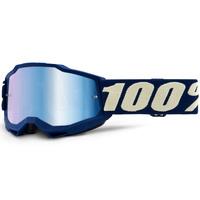100% Accuri2 Youth Goggle Deepmarine w/Mirror Blue Lens