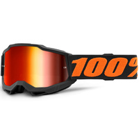 100% Accuri2 Youth Goggle Chicago w/Mirror Red Lens