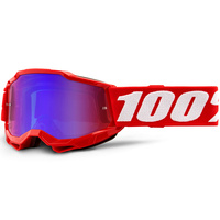 100% Accuri2 Youth Goggle Red w/Mirror Red/Blue Lens