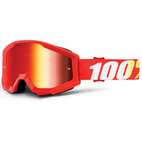 100% Strata Goggles Furnace w/Mirror Red Lens
