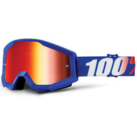 100% Strata Goggles Nation w/Mirror Red Lens