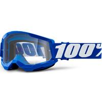 100% Strata2 Goggle Blue w/Clear Lens