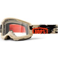 100% Strata2 Goggle Kombat w/Clear Lens