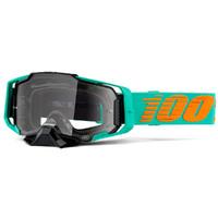 100% Armega Goggle Clark w/Clear Lens