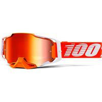 100% Armega Goggle Regal w/Mirror Red Lens