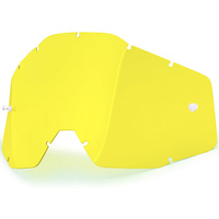 100% Replacement Yellow Anti-Fog Lens for Racecraft/Accuri/Strata Goggles