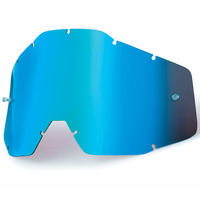 100% Replacement Blue Mirror Lens for Racecraft/Accuri/Strata Goggles