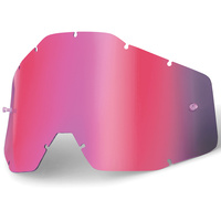 100% Replacement Pink Mirror Lens for Racecraft/Accuri/Strata Goggles