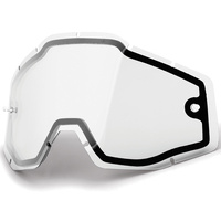 100% Replacement Clear Non Vented Dual Pane Lens for Racecraft/Accure/Strata Goggles