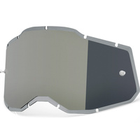 100% Injected Mirror Silver Lens for Racecraft2/Accuri2/Strata2 Goggles