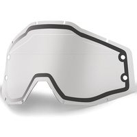 100% Replacement Clear Dual Lens w/Sonic Bumps & Mud Visor for Accuri/Strata Forecast Goggles
