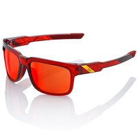 100% Type-S Sunglasses Cherry Palace w/Deep Red Mirror Lens
