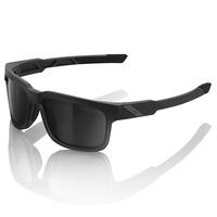 100% Type-S Sunglasses Soft Tact Black w/Smoke Lens