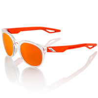 100% Campo Sunglasses Polished Crystal Clear w/Orange Multilayer Lens