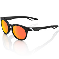 100% Campo Sunglasses Soft Tact Crystal Black w/Hiper Red Multilayer Lens
