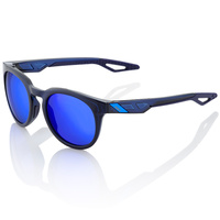 100% Campo Sunglasses Polished Translucent Blue w/Electric Blue Mirror Lens