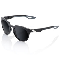 100% Campo Sunglasses Soft Tact Black w/Grey PeakPolar Lens