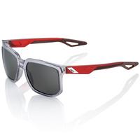 100% Centric Sunglasses Polished Crystal Grey w/Smoke Lens