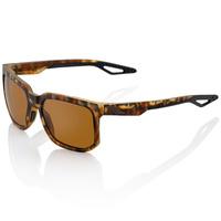 100% Centric Sunglasses Soft Tact Havana w/Brown PeakPolar Lens