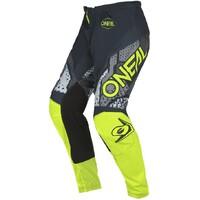 Oneal 2022 Element Pants Camo V.22 Grey/Neon Yellow