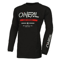 Oneal 2022 Element Cotton Youth Jersey Squadron V.22 Black/Grey