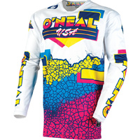 Oneal 2020 Mayhem Jersey Crackle 91 Yellow/White/Blue