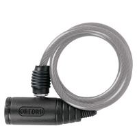 Oxford Bumper Cable Lock 0.6m x 6mm Clear