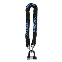 Oxford HD Chain Lock Heavy Duty 9.5mm x 2.0m Chain & Padlock Black