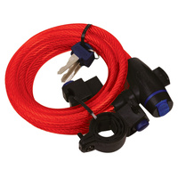 Oxford Cable Lock 12mm x 1.8m Red