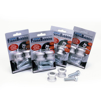 Oxford Bobbins M6 (1.0) Silver for Rear Paddock Stand