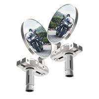 Oxford Bar End Mirrors Silver (Pair)