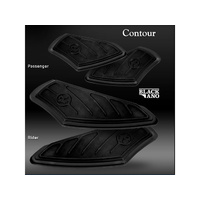 Performance Machine P00361000B Contour Driver Floorboards FLH'83up & FLST'86up Black Anodized