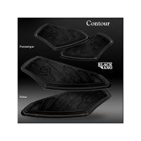 Performance Machine P00361001B Contour Passenger Floorboards FLH'93up (Must Have OEM Mount) Black Anodized