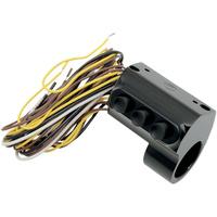 Performance Machine P00622033B Contour Billet Handlebar Switch Assembly 3 Button w/Hydraulic Clutch Black