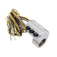 Performance Machine P00622033CH Contour Billet Handlebar Switch Assembly 3 Button w/Hydraulic Clutch Chrome