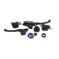 Performance Machine P00624019BM Complete Handlebar Control Kit w/Cable Clutch Single Disc Big Twin'84-11 w/Clutch Cable Contrast Cut (Kit)