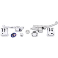Performance Machine P00624021CH Complete Handlebar Control Kit w/Cable Clutch Single Disc CAN/Bus'12up w/Clutch Cable Chrome (Kit)