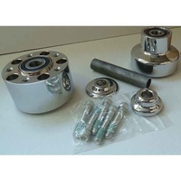 Performance Machine P01291227CH Front Hub Kit for FXST'00-06FXDWG'00-05 Single Disc Chrome