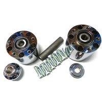 Performance Machine P01291295CH Rear Hub Kit for FXD'06 & FXDWG'06-07 Chrome