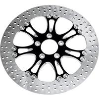 """Performance Machine P01331802GATSBMP Gasser/Luxe Right Rear 2.22"""" Diameter Disc FLH'08up Platinum Cut"""