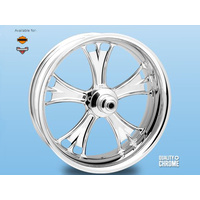 "Performance Machine P01573809RGASCH Gasser 18"" x 4.25"" Wheel w/Contour Rim Lip w/out Hub Chrome"
