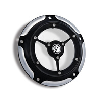 Roland Sands Designs P01772007BM Clarity Derby Cover Contrast Cut for Softail 00-18/Dyna 99-17/Touring 99-15