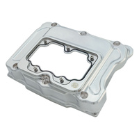 Roland Sands Designs P01772034CH Clarity Rocker Box Covers Big Twin'99up Chrome