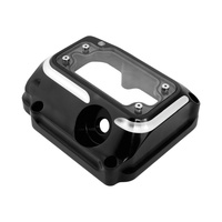 Roland Sands Designs P02032005BM Clarity Transmission Top Cover Contrast Cut Twin Cam 00-06 5 Speed