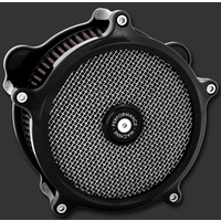 Performance Machine P02062021B Super Gas Air Cleaner Black Anodized Big Twin'93up w/S&S Carb E or G