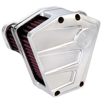 Performance Machine P02062085CH Scallop Air Cleaner Chrome for Twin Cam 08-17 w/Throttle-By-Wire