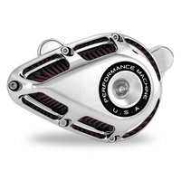 Performance Machine P02062140CH Jet Air Cleaner Kit Chrome for M8 Touring 17up/Softail 18up w/Throttle-By-Wire